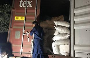 Sea Cargo Being Unloaded in Pakistan
